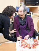 県内最高齢、世界4位の115歳中地さん 笑顔の誕生日