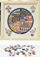 オフィス・タカハシと神埼市がコラボして完成したマンホールパズル=神埼市役所