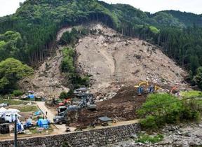山崩れで不明者6人全員死亡確認