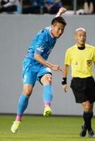 現役引退を発表したDF磯崎敬太=5月19日、鳥栖市のベストアメニティスタジアム