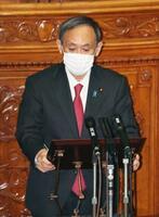 参院本会議で答弁する菅首相=30日午後