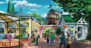 「ジブリパーク」に設けられる「魔女の谷エリア」のイメージ((C)Studio Ghibli)