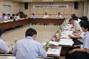 犯罪被害者への支援について話し合った連絡協議会=佐賀市の県警本部