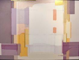 独立展に出品した抽象画「帰郷の頃」(アクリル、F200号)