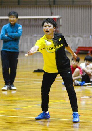 <つかめTOKYO2020>バド男子複・嘉村健士(トナミ運輸) 「低空戦」で世界に挑む