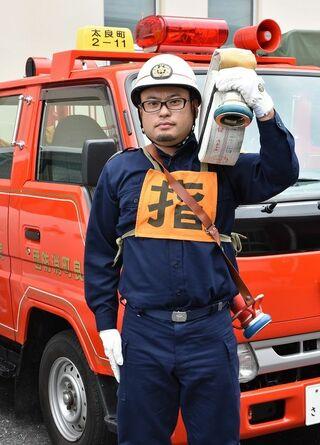 頑張る若手団員(1) 嶋元和久さん(太良町消防団)