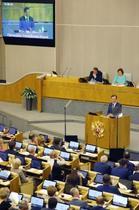 文大統領、ロシア下院で演説