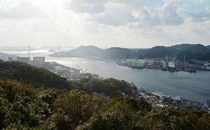 フェートン号事件が起きた長崎港。佐賀藩は長崎警備を通じて西洋列強の脅威と向き合った=長崎県長崎市