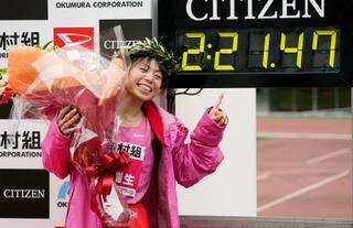 女子マラソン、松田が五輪に前進