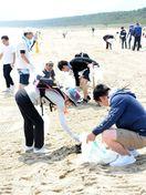 裸足で歩ける砂浜に 佐賀県ホンダ会がビーチクリーン活動