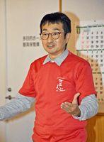 地域一帯を宿と捉える観光地づくりについて話した吉澤さん=佐賀市の三瀬保健センター