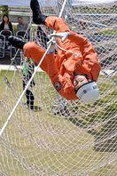 救助活動の技術競う 消防訓練選考会に110人