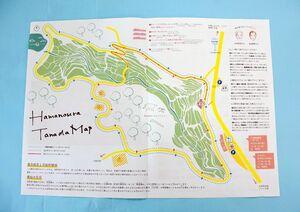 玄海町地域おこし協力隊などが作成した「浜野浦の棚田マップ」。散策コースや耕作者のインタビューも掲載している