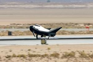 国際宇宙ステーションへの物資補給フライトが決まった開発中の有翼宇宙船「ドリームチェイサー」(シエラネバダコーポレーション提供・共同)