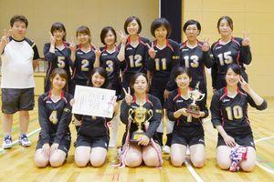 浜玉町内バレーボール大会 女子優勝の横田下チーム