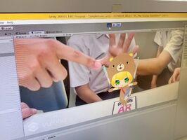 ARを使って画面にキャラクターを映し出した