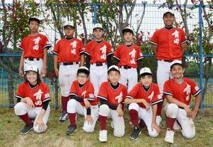 初の対外試合を経験した有田中学軟式野球クラブのメンバー
