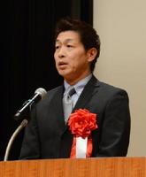 犯罪被害者支援フォーラムで、3歳の長女が殺害された事件を振り返った父親の清水誠一郎さん=佐賀市のアバンセ