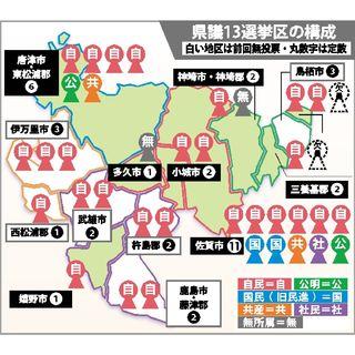 <県議選まで半年(1)>9選挙区、無投票の可能性