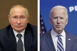 ロシアのプーチン大統領(AP=共同)、バイデン米大統領(ゲッティ=共同)
