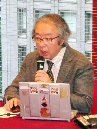 日朝宣言生かす外交を 共同通信・磐村氏が講演