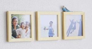 壁に飾られた「ましかく写真」(キヤノン提供)
