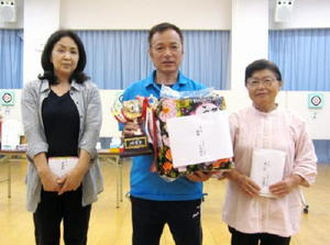 佐賀ヤマトスポーツ吹矢クラブ7月例会 個人戦の上位入賞者