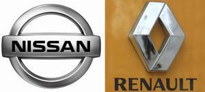 日産自動車、ルノー(AP=共同)両社のロゴマーク