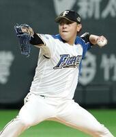 6回1失点で3勝目を挙げた日本ハム・河野=札幌ドーム