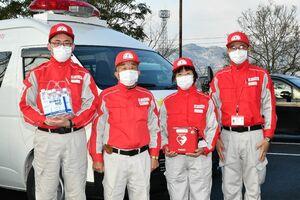 救護として大会を支えた日本赤十字佐賀支部のスタッフ=三養基郡の基山町役場