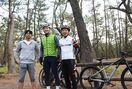 サイクルルート、ロードレーサーらプロ選手が視察 虹の松原…