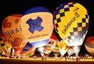 【動画】熱気球 希望照らせ 無観客のバルーン夜間係留配信