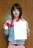 ボルダリングユース日本選手権女子ジュニアで2位に入った木下茜