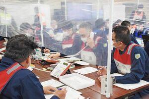 大雨による大規模災害を想定して行われた図上訓練=佐賀市の県警本部