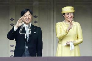 天皇、皇后両陛下=4日、宮殿・長和殿