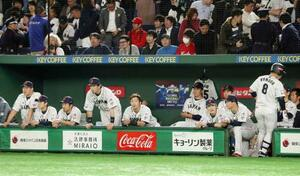 米国に敗れた日本ナイン=東京ドーム