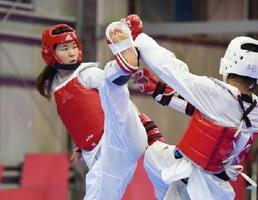 リオ五輪に出場の佐賀県選手を紹介。写真はテコンドーの濱田真由選手