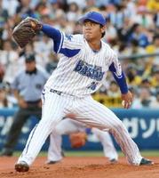 阪神戦に先発し、6勝目を挙げたDeNA・濵口=横浜