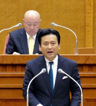 県議会開会 有明海再生で知事「開門調査含め国に要求」