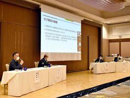 発表会では、事業継続計画(BCP)策定の意義や成果が紹介された=佐賀市のホテルグランデはがくれ