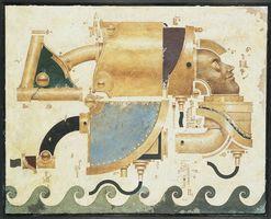 野村昭嘉「AmosuNorle」(1990年、アクリル絵具・板、91.5×115センチ、佐賀県立美術館蔵)