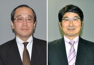 松井一実広島市長(左)、田上富久長崎市長