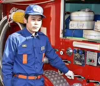 頑張る若手団員(20) 松尾邦彦さん(吉野ヶ里町消防団北部第1分団第1部部長)