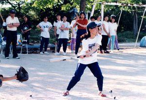 千代田西部少年との合同練習で汗を流すべっぴんマリナーズナイン