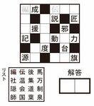【PUZZLE】漢字詰めクロス