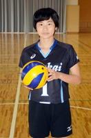 木村沙織選手のように笑顔でチームを引っ張るキャプテンを目指す前川季穂さん=玄海町の玄海みらい学園
