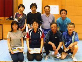 循誘校区卓球大会・個人の上位入賞者