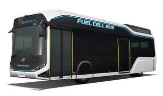 トヨタ、水素燃料の試作車を出展