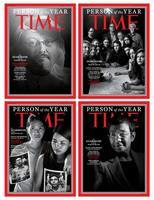 「パーソン・オブ・ザ・イヤー(今年の人)」を伝える米誌タイムの表紙(同誌提供、共同)