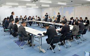 新型コロナウィルス感染症に関する佐賀県の庁内連絡会議=県庁